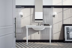 Oxford Bianco Negro Bathroom image