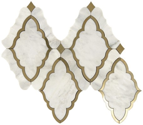 Baroque White & Brass